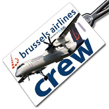 Brussels DHC8 Q400 Crew Tag